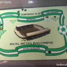 Coleccionismo deportivo: ANTIGUO ABONO REAL BETIS BALOMPIÉ 1991 1992. Lote 205782056