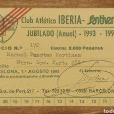 Coleccionismo deportivo: CARNET DE SOCIO C.A. IBERIA 1993-94. Lote 206280792