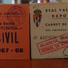 Coleccionismo deportivo: REAL VALLADOLID, CARNET RARO DE GUARDIA CIVIL, ORIGINAL, VED LA FOTO. Lote 206294810