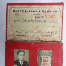 Coleccionismo deportivo: ANTIGUO CARNET SOCIO INFANTIL SPORT LISBOA BENFICA. AÑO 1939-1940. Lote 207262578