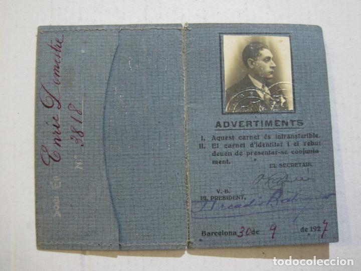 FC BARCELONA-CARNET DE SOCI-ANY 1927-BARÇA-CARNET SOCIO MUY ANTIGUO-VER FOTOS-(V-20.787) (Coleccionismo Deportivo - Documentos de Deportes - Carnet de Socios)