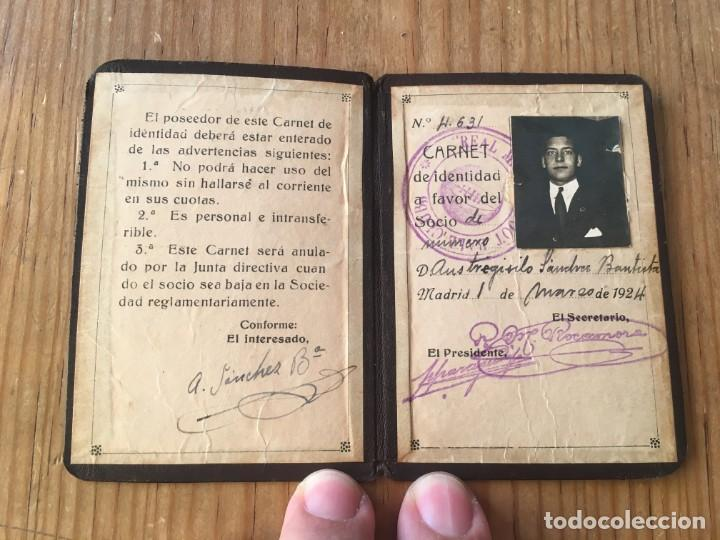 R9693 CARNET SOCIO ABONADO REAL MADRID AÑO 1924 AUSTRESIGILIO SANCHEZ BAUTISTA MUY RARO (Coleccionismo Deportivo - Documentos de Deportes - Carnet de Socios)