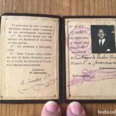 Coleccionismo deportivo: R9693 CARNET SOCIO ABONADO REAL MADRID AÑO 1924 AUSTRESIGILIO SANCHEZ BAUTISTA MUY RARO. Lote 209871306