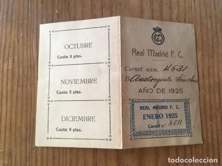 R9694 CARNET SOCIO ABONADO REAL MADRID AÑO 1925 CON CUPONES AUSTRESIGILIO SANCHEZ MUY RARO (Coleccionismo Deportivo - Documentos de Deportes - Carnet de Socios)