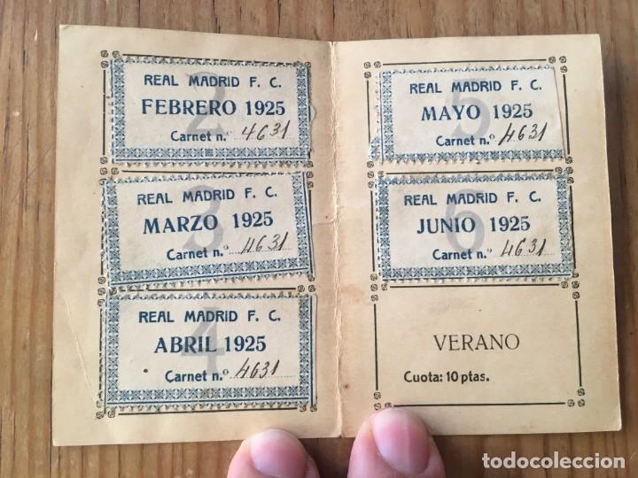 Coleccionismo deportivo: R9694 CARNET SOCIO ABONADO REAL MADRID AÑO 1925 CON CUPONES AUSTRESIGILIO SANCHEZ MUY RARO - Foto 2 - 209871810