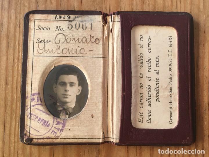 R9695 CARNET SOCIO ABONADO CLUB ATLETICO RIVER PLATE ARGENTINA 1939 (Coleccionismo Deportivo - Documentos de Deportes - Carnet de Socios)