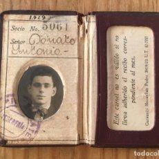 Coleccionismo deportivo: R9695 CARNET SOCIO ABONADO CLUB ATLETICO RIVER PLATE ARGENTINA 1939. Lote 209871906