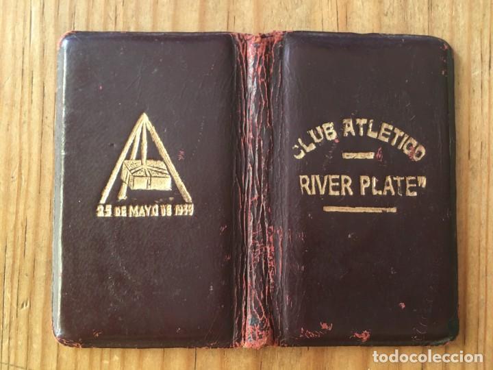Coleccionismo deportivo: R9695 CARNET SOCIO ABONADO CLUB ATLETICO RIVER PLATE ARGENTINA 1939 - Foto 2 - 209871906