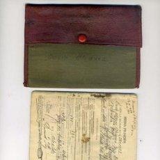 Coleccionismo deportivo: CARTERA CON DOCUMENTACION MILITAR Y CARNET DIRECTIVO CELTA DE VIGO AÑO 1927. Lote 210089148