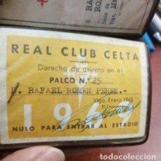Coleccionismo deportivo: LOTE..R.C. CELTA DE VIGO. PALCO SOCIO TRIBUNA CUBIERTA Nº 25 DE 1969. .2 ABONOS ANUALES 1981 Y 1982. Lote 210090296