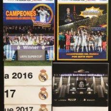 Coleccionismo deportivo: LOTE PACK REAL MADRID SOCIO MADRIDISTA + 2 REVISTAS HALA MADRID 53 58 + 3 POSTERS. Lote 210453651