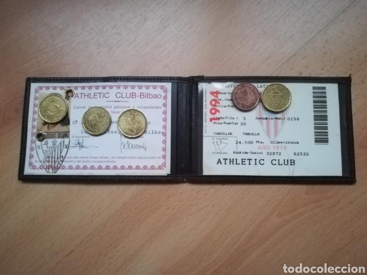 Coleccionismo deportivo: Antiguo CARNET DEL ATHLETIC DE BILBAO. - Foto 2 - 214287588