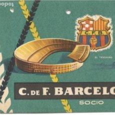 Coleccionismo deportivo: CARNET SOCIO C.DE F. BARCELONA - 1º TRIMESTRE 1959. Lote 215591738