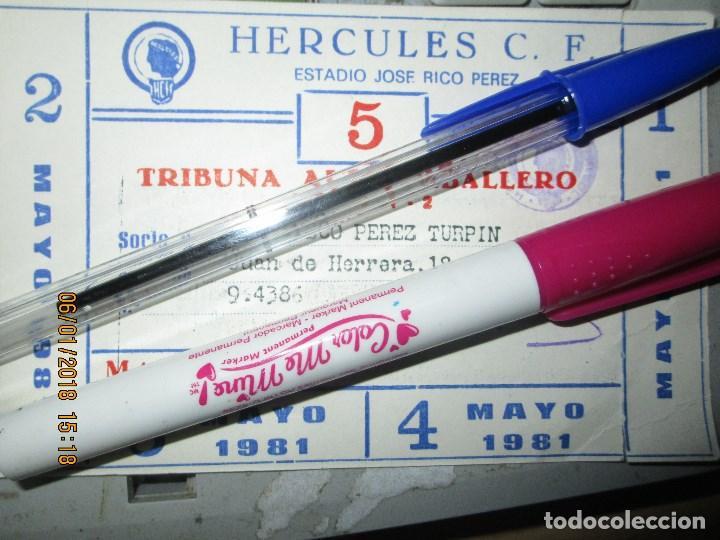 FUTBOL CLUB HERCULES DE ALICANTE CARNET SOCIO ANTIGUO TRIBUNA 1981 (Coleccionismo Deportivo - Documentos de Deportes - Carnet de Socios)