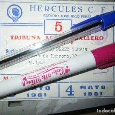 Coleccionismo deportivo: FUTBOL CLUB HERCULES DE ALICANTE CARNET SOCIO ANTIGUO TRIBUNA 1981. Lote 215884015