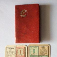 Colecionismo desportivo: CARNET CON 15 VIÑETA DE COTIZACIONES, AÑOS 1943-1944. CLUB FÚTBOL COPPEL. MADRID.. Lote 217023957