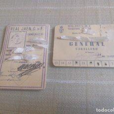 Coleccionismo deportivo: CARNET DE SOCIO Y ABONO DEL REAL JAÉN CLUB DE FUTBOL TEMPORADA 61/62 MIREN FOTOS. Lote 217321596