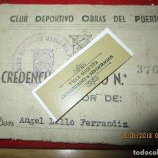 Coleccionismo deportivo: ANTIGUO CARNET SOCIO CLUB DEPORTIVO OBRAS DEL PUERTO 194. Lote 217489642