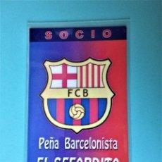 Colecionismo desportivo: CARNET DE SOCIO DE LA PEÑA BARCELONISTA EL SEFARDITA. Lote 217860935
