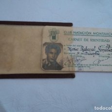 Coleccionismo deportivo: FUNDA Y CARNET DE IDENTIDAD DE SOCIO DEL CLUB NATACION DE MONTJUICH 1946. Lote 217891905