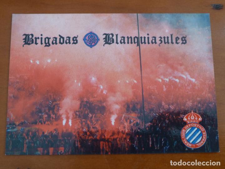 CARNET FUTBOL ULTRAS REAL CLUB DEPORTIVO ESPAÑOL BRIGADAS BLANQUIAZULES (Coleccionismo Deportivo - Documentos de Deportes - Carnet de Socios)