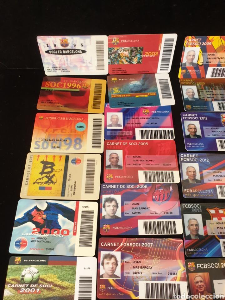 Coleccionismo deportivo: Lote carnets y abonos F.C Barcelona - Foto 3 - 218686235