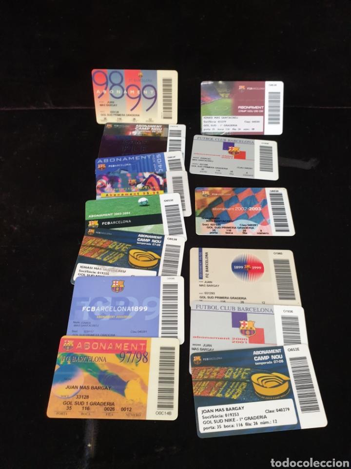 Coleccionismo deportivo: Lote carnets y abonos F.C Barcelona - Foto 4 - 218686235