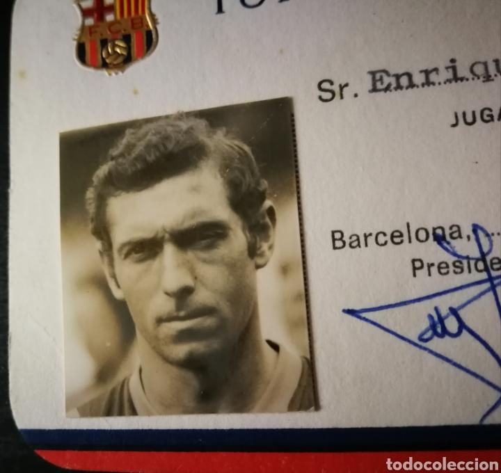"Coleccionismo deportivo: Carnet / Ficha Enrique Castro "" Quini "" Barcelona . FCB . Jugador Real Sporting Gijón - Foto 2 - 219124322"