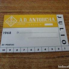 Coleccionismo deportivo: CARNET SOCIO A. D. ANTORCHA LERIDA JULIO 1968. Lote 219138705
