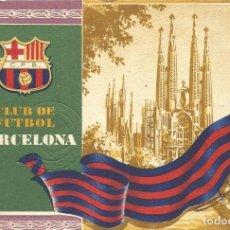 Coleccionismo deportivo: CARNET CLUB DE FÚTBOL BARCELONA. 3R TRIMESTRE 1955. SAGRADA FAMÍLIA. 12,7X8,7 CM. BUEN ESTADO.. Lote 219259818