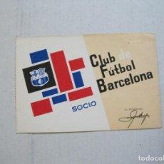 Coleccionismo deportivo: FC BARCELONA-CLUB DE FUTBOL BARCELONA-CARNET SOCIO-INTANTIL-AÑO 1966-VER FOTOS-(74.652). Lote 220887182