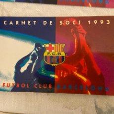 Coleccionismo deportivo: CARNET SOCIO BARCELONA 1993 NUEVO 4 TRIMESTRE. Lote 221520901