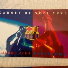 Coleccionismo deportivo: CARNET SOCIO BARCELONA 1993 ANUAL NUEVO. Lote 221520916