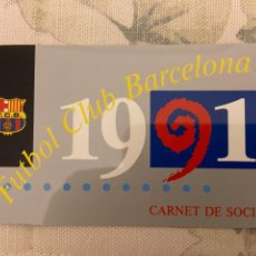 Coleccionismo deportivo: CARNET SOCIO BARCELONA 1991 NUEVO 4 TRIMESTRE. Lote 221520992