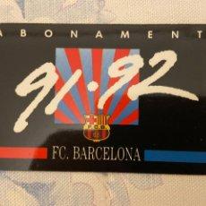 Coleccionismo deportivo: CARNET SOCIO BARCELONA 91 92 NUEVO. Lote 221521148