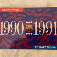 Coleccionismo deportivo: CARNET SOCIO BARCELONA 1990 1991 NUEVO. Lote 221521178