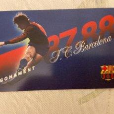 Coleccionismo deportivo: CARNET SOCIO BARCELONA 87 88 NUEVO. Lote 221521363