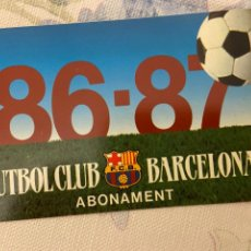 Coleccionismo deportivo: CARNET SOCIO BARCELONA 86 87 NUEVO. Lote 221521381