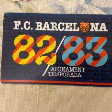 Coleccionismo deportivo: CARNET SOCIO BARCELONA 82 83 NUEVO. Lote 221521436