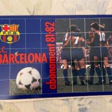 Coleccionismo deportivo: CARNET SOCIO BARCELONA 81 82 NUEVO. Lote 221521511