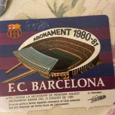 Coleccionismo deportivo: CARNET SOCIO BARCELONA 1980 81 NUEVO. Lote 221521591