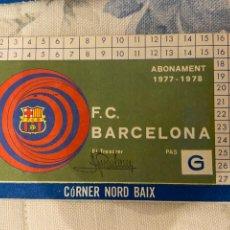 Coleccionismo deportivo: CARNET SOCIO BARCELONA 1977 1978 NUEVO. Lote 221521706