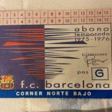 Coleccionismo deportivo: CARNET SOCIO BARCELONA NUEVO 1975 1976. Lote 221521773