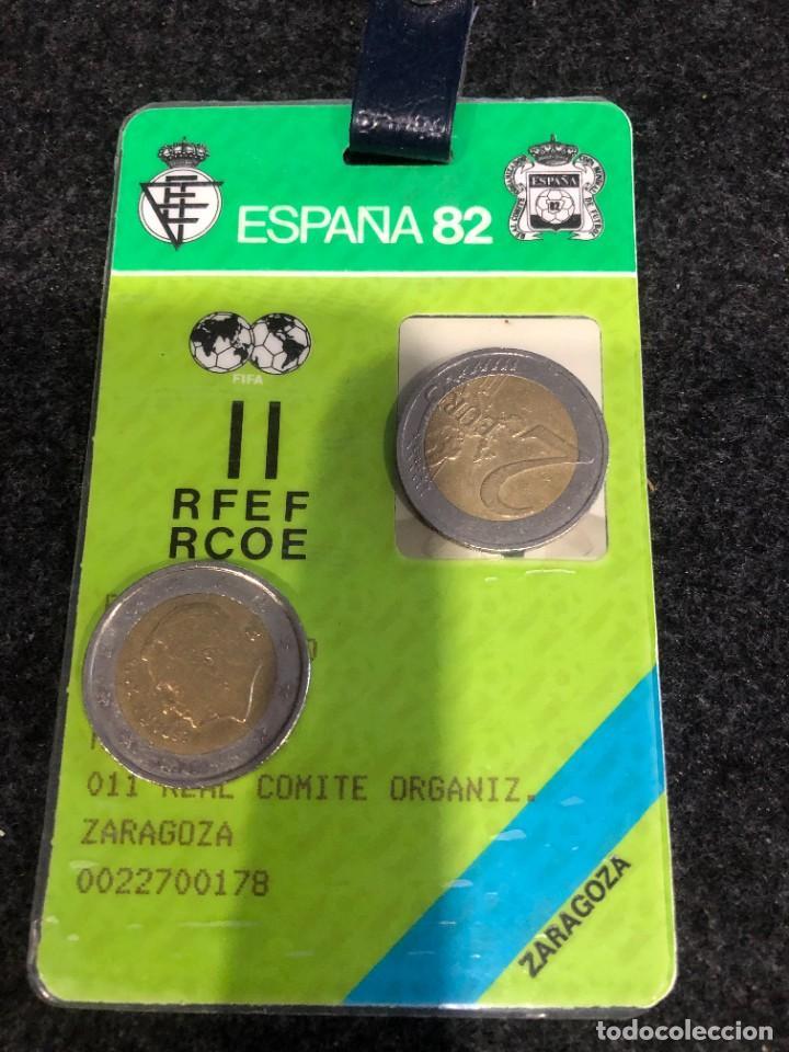 MUY DIFICIL CARNET PERIODISTA MUNDIAL ESPAÑA FUTBOL 1982 ORIGINAL (Coleccionismo Deportivo - Documentos de Deportes - Carnet de Socios)