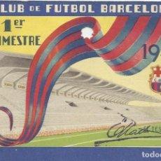 Coleccionismo deportivo: CARNET CLUB DE FÚTBOL BARCELONA. 1ER TRIMESTRE 1949. 8,5X12,5 CM. BUEN ESTADO CON SIGNOS DE LA EDAD.. Lote 221712587