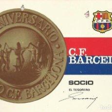 Coleccionismo deportivo: CARNET CLUB DE FÚTBOL BARCELONA. 4º TRIMESTRE 1968. 8X11,5 CM. BUEN ESTADO CON SIGNOS DE LA EDAD.. Lote 221714547
