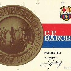 Coleccionismo deportivo: CARNET CLUB DE FÚTBOL BARCELONA. 2º TRIMESTRE 1968. 8X11,5 CM. BUEN ESTADO CON SIGNOS DE LA EDAD.. Lote 221714621