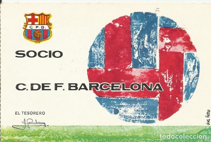 CARNET CLUB DE FÚTBOL BARCELONA. 4º TRIMESTRE 1970. 8X11,5 CM. BUEN ESTADO CON SIGNOS DE LA EDAD. (Coleccionismo Deportivo - Documentos de Deportes - Carnet de Socios)