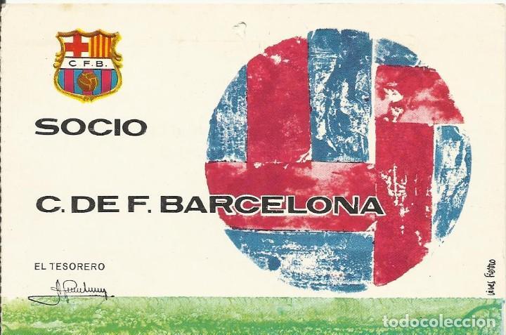 CARNET CLUB DE FÚTBOL BARCELONA. 2º TRIMESTRE 1970. 8X11,5 CM. BUEN ESTADO CON SIGNOS DE LA EDAD. (Coleccionismo Deportivo - Documentos de Deportes - Carnet de Socios)