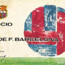 Coleccionismo deportivo: CARNET CLUB DE FÚTBOL BARCELONA. 1ER TRIMESTRE 1970. 8X11,5 CM. BUEN ESTADO CON SIGNOS DE LA EDAD.. Lote 221715100